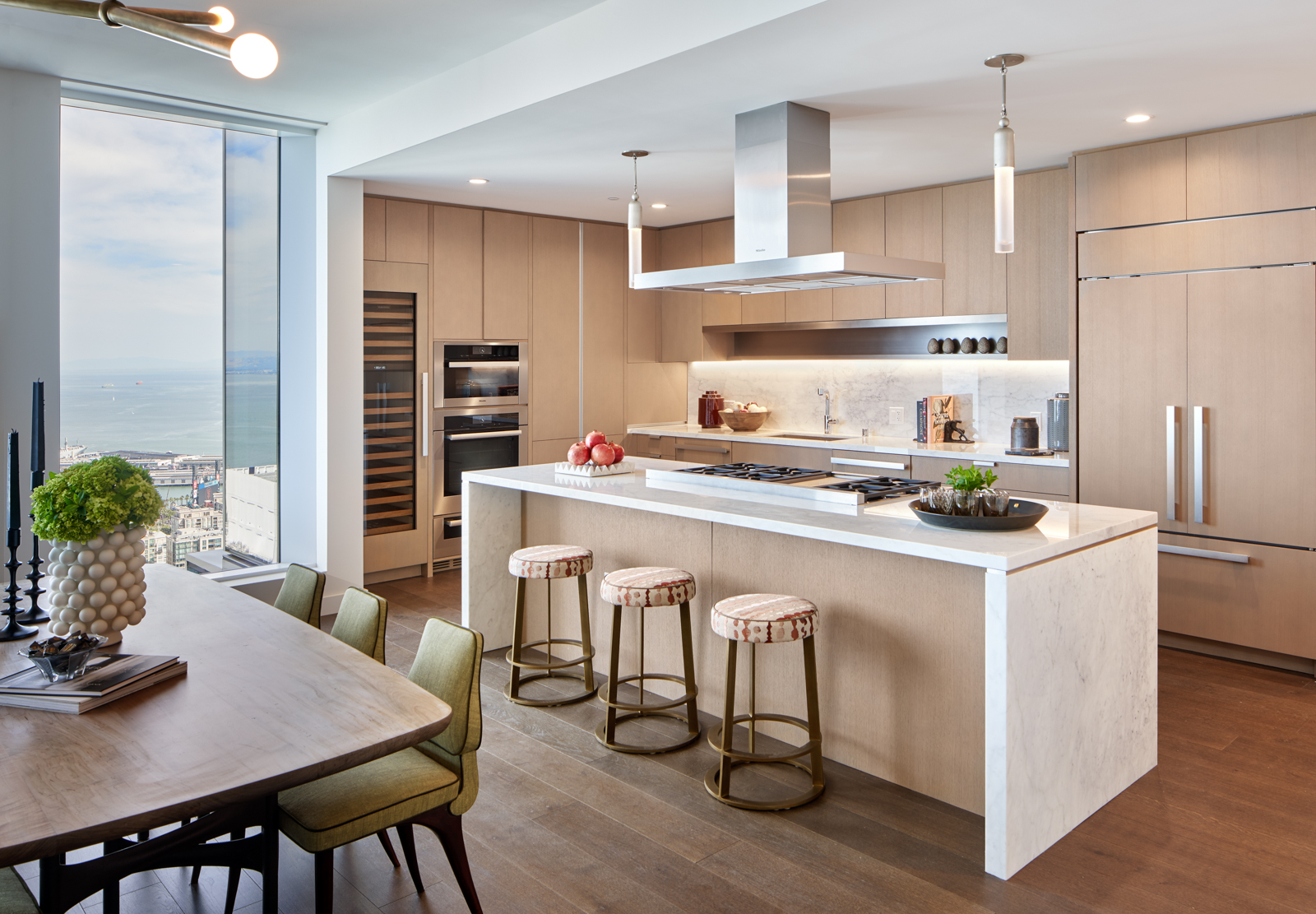 Professional-Grade Penthouse Kitchen