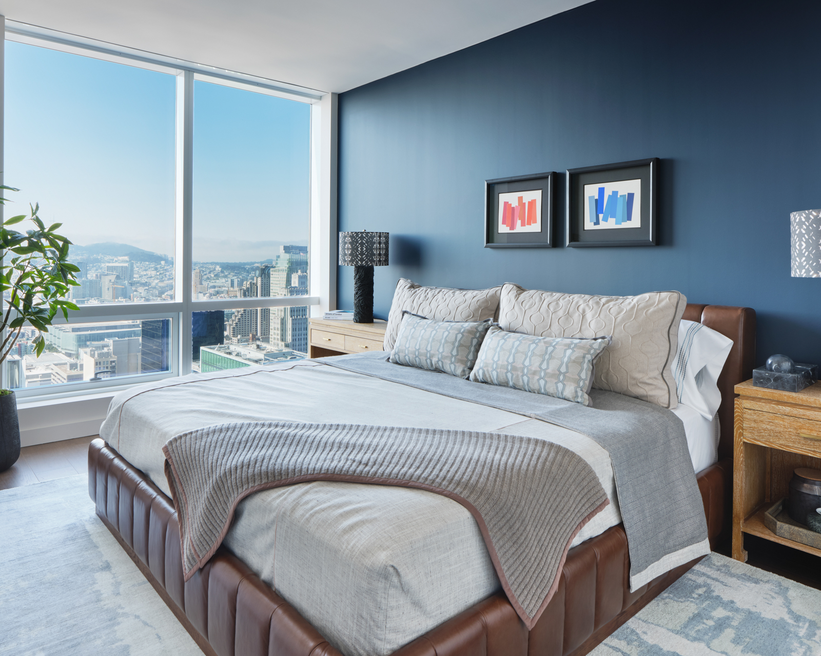 Spacious master bedrooms with expansive views