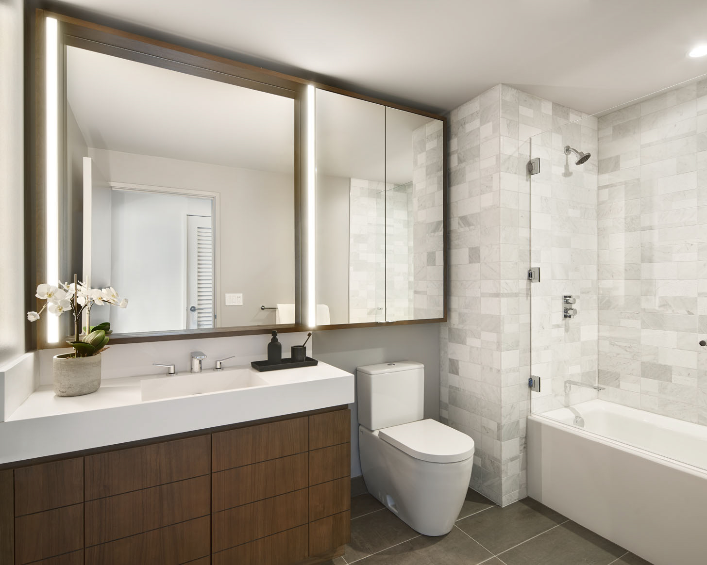 Serene guest bathrooms